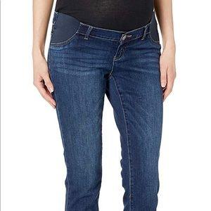 Indigo blue maternity pants jeans L skinny